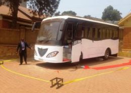 'Africa's first solar powered bus' launched in Uganda