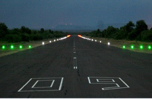 Airport, Angola, settles, solar, runway, taxiway, lights