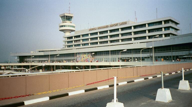 Murtala Mohammed International Airport in Ikeja - one of Nigeria's three major international airports