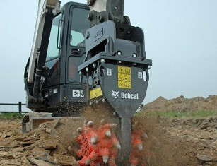 Bobcat hydraulic breakers rotary grinder attachments Bobcat excavators Pin-on Klac Lehnhoff Bobcat compact loaders