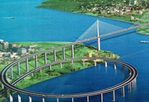 The Kigamboni Bridge. (Image source: Tanzania Ministry of Works)
