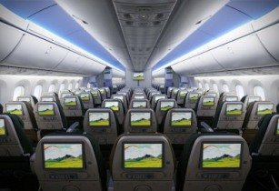 Dreamliner interior - Ethiopian Airlines
